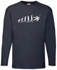 Astronaut Evolution Langarm T-Shirt Space Cosmos Fun Planets Planet Human