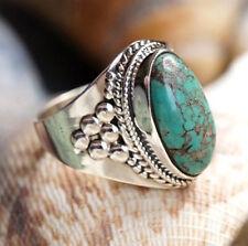 Handarbeit Ring Silber 55 56 57 Türkis Silberring Verspielt Antik Design Orient