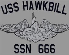 US Navy USS Hawkbill SSN-666 Submarine T-Shirt