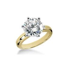Anello con diamante solitario 0.50 carati (I1/G-H) oro giallo 14K - certificato!