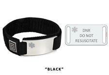 DO NOT RESUSCITATE Medical Alert ID Bracelet with Clear emblem.