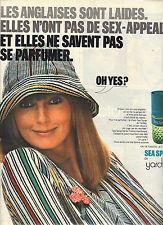 PUBLICITE  1975    YARDLEY   parfum sea spray