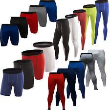 Men Compression Under Skins Leggings Base Layers Gym Sports Pants Shorts Workout