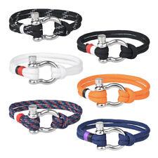 Fashion Rope Wrap Bracelet Nautical Marine Survival Wristband Bracelet Bangles
