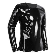RN013-Caoutchouc Latex Fermeture Éclair Arrière T-Shirt