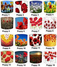 Poppy Lampshades Ideal To Match Poppy Cushions, Poppy Duvets & Poppy Wallpaper.