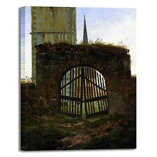 Caspar cancello cimitero design quadro stampa tela dipinto telaio arredo casa