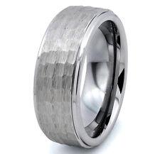 Tungsten Carbide Hammer Design Men's 8MM Silver Wedding Band Wedding Ring SR94