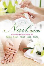 Nail Art Salon Designs Pedicure Manicure shop store Paper Poster Print N-04