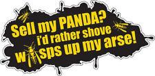 Vendi il mio PANDA passerei piuttosto S *** E VESPE ADESIVO FIAT 4X4