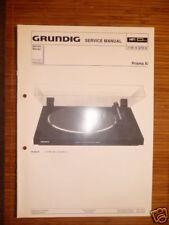 Manuels De Réparation Grundig Prism Xi Tourne-disque,ORIGINE
