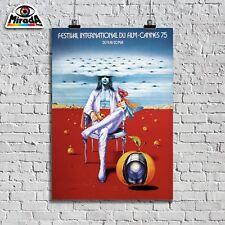 POSTER LOCANDINA  FESTIVAL DE CANNES 9-23 MAI 1975 FILM ARTE TOPQUALITY GRAPHICS