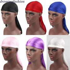 Unisex Men Women Bandana Hat Hip-hop Durag do doo du rag long tail headwrap caps