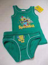 Spongebob Schwammkopf Hemd Hose Slip Unterwäsche Set  116 128 140 152  NEU