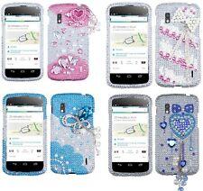 LG Google Nexus 4 E960 Premium 3D Diamond Bling Rhinestone Pearl Hard Case Cover