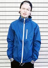 HUMÖR Damon College Übergangs-Jacke Windbreaker blau Zipper Blouson Windjacke