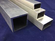 Alurohr Rechteckrohr Profil Aluminium Vierkantrohr Länge 500mm - 2000mm