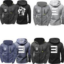 Eminem Womens&Mens Hoodie Hip Hop Sweatshirt Zipper Top Coat Jacket Sportswear