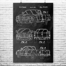 Dodge RAM Truck Poster Print Truck Lover Gift Truck Blueprint Mechanic Gift