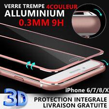 Film protection écran VITRE VERRE TREMPE bord incurvé métal incassable IPHONE