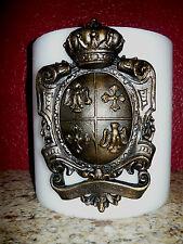 Shield, Candle Pin, Old World, Medieval, Eagle, Fleur de Lis, Cross, Crown, Pick