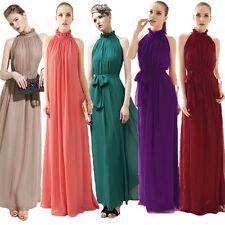 Damen Chiffon Abendkleid Ballkleid Maxikleid Kleid mit Rüschen 36 - 44 CTB46