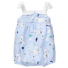 NWT Gymboree Baby Bunny Girls Blue Rabbit Bubble Romper Sunsuit Jumpsuit