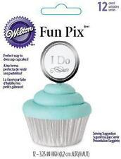 Wilton Fun Pix - I Do Wedding Cake Cupcake Picks Party Supplies