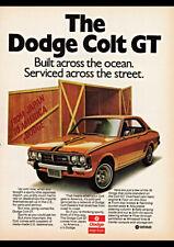 1973 DODGE COLT GT AD ART PRINT POSTER
