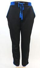 New Look Black Tassel Drawsting Contrast Piping Soft Pants Junior's XL