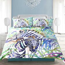 Zebra Duvet Cover Set 3 PCS Watercolor Exotic Wild Animal Nature Bedding Set Pri