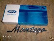 1968 Mercury Quarter Panel Nameplate  Montego