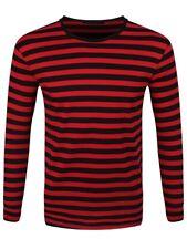 Rayas Rojo y Negro de manga larga T-Shirt