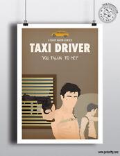 TAXI DRIVER - Minimalist Movie Poster Minimal Film Posteritty DeNiro Talkin me