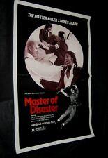 Orignl Tri-Folded MASTER OF DISASTER TREASURE HUNTERS Martial Arts SHAW BROTHERS