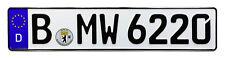 BMW European German License Plate