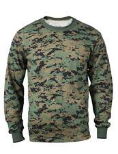 Woodland DIGITAL Camo LONG SLEEVE T-Shirt MARPAT Camo US Marine Corps USMC L/S