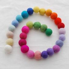 100% Wool Felt Balls - 2cm - 30 Count - Assorted Colours