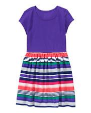 NWT Gymboree MIX N MATCH Everyday Playwear Purple Striped Knit Dress 5/6,7/8