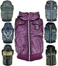 Weste Mädchen Jungen Steppweste Winter Übergang Jacke mit Kapuze Neu Gr. 98-146