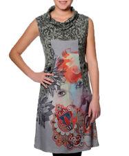 Smash Barcelona S-XXL Royaume-Uni 10-18 RRP? 38.50 Rafaela robe gris hiver poloneck