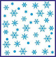 SNOWFLAKES Wall Stickers CHRISTMAS Decorations Vinyl Art FREE P&P!