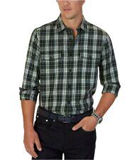 Nautica Mens Plaid Button Up Shirt