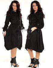 803 Fashion gros collier doublure en polaire veste longueur genou taille uk 8 10 12