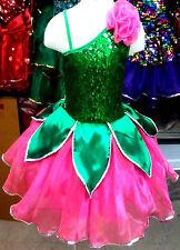 Lotus Kinder/Mädchen Prinzessin Kostüm/Kleid Fasching/Cosplay Rosa/Grün 98-170