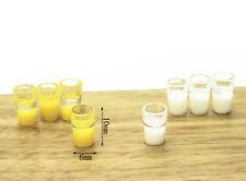 2x Miniature Milk Glass Kitchen Orange Drink Food Cup Decor Dollhouse 1/12^-^