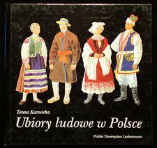 BOOK Polish Folk Costume regional peasant fashion history ethnic dress Poland