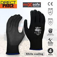 4X Maxisafe Black Knight Sub Zero Warm Winter Wool Liner Work Glove Working Grip
