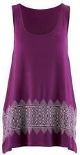 BPC Mujer Top Con Bordado Top Sin Mangas Camiseta sin mangas Púrpura 952495