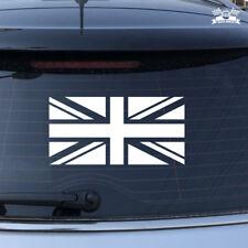 UK British Flag Union Jack Britain Car Sticker White Vinyl Decal 2'' 6'' 16''